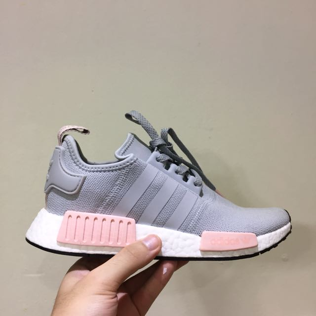 Adidas Nmd R1 Women Grey Pink Offspring 7c81b3c4e