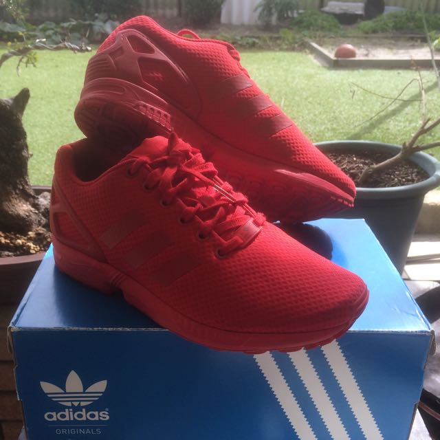 Adidas ZX Flux Triple Red, Size 8US