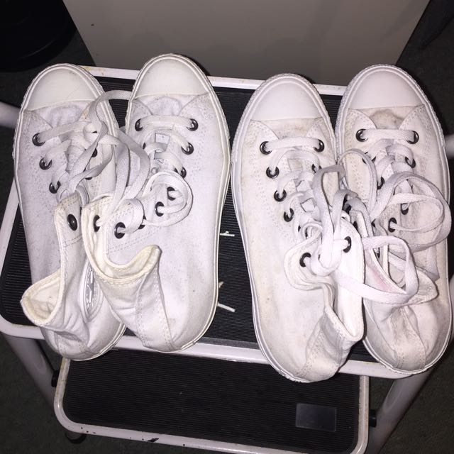 All White Converses