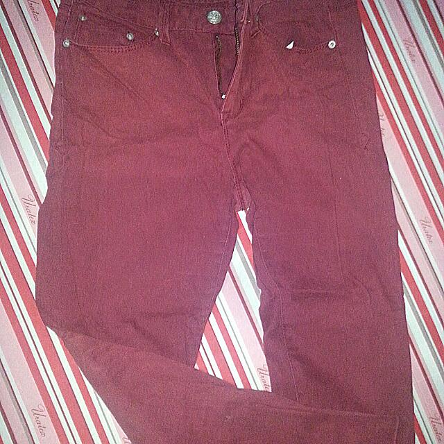 American rag Maroon Denim Pants