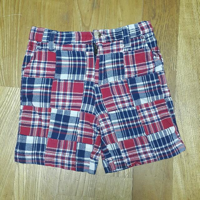 authentic格子短褲男童休閑褲