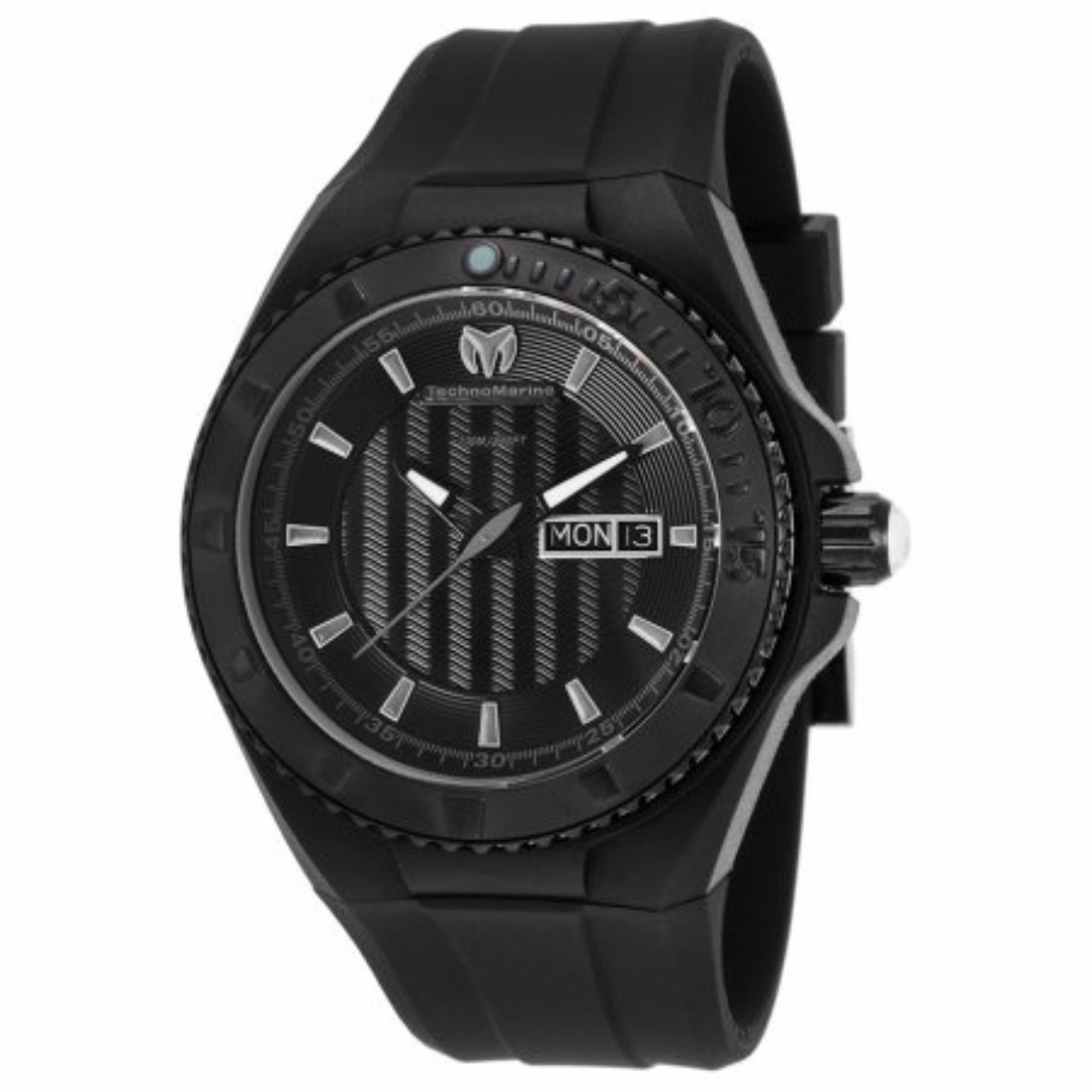 Authentic Technomarine Men's Tm-115168 Cruise Night Vision Black