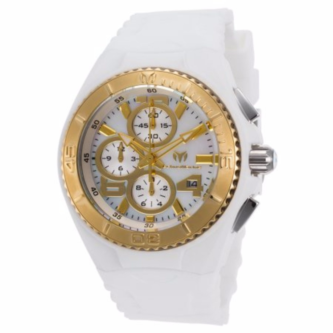 Authentic Technomarine Tm115263 Jellyfish Chronograph White Gold