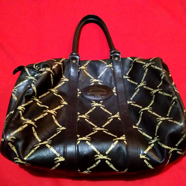 Authentic Vintage Long Champ Bag not Gucci Prada Louis Vuitton Hermes Coach LV or MK