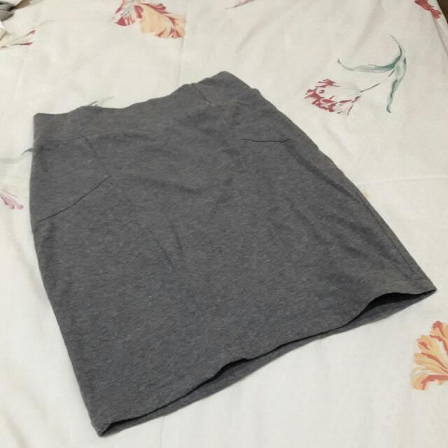 B06 - Grey Cotton On Span Skirt
