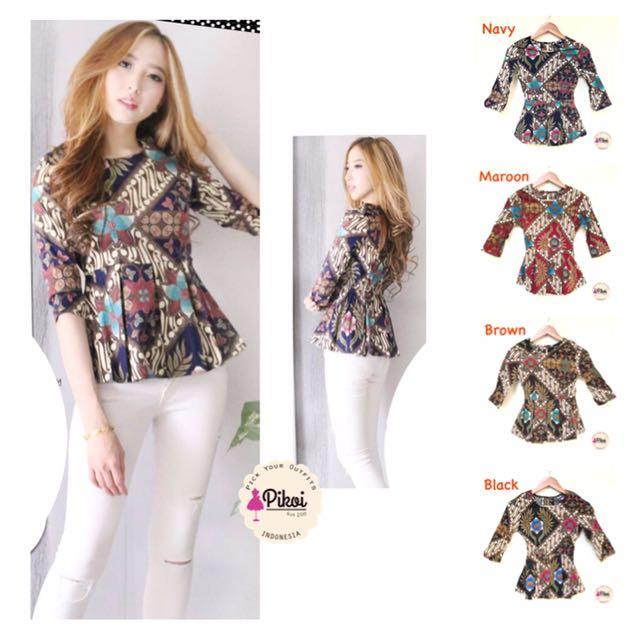 Baju Batik Wanita Modern Batik Kantor Murah Atasan Batik