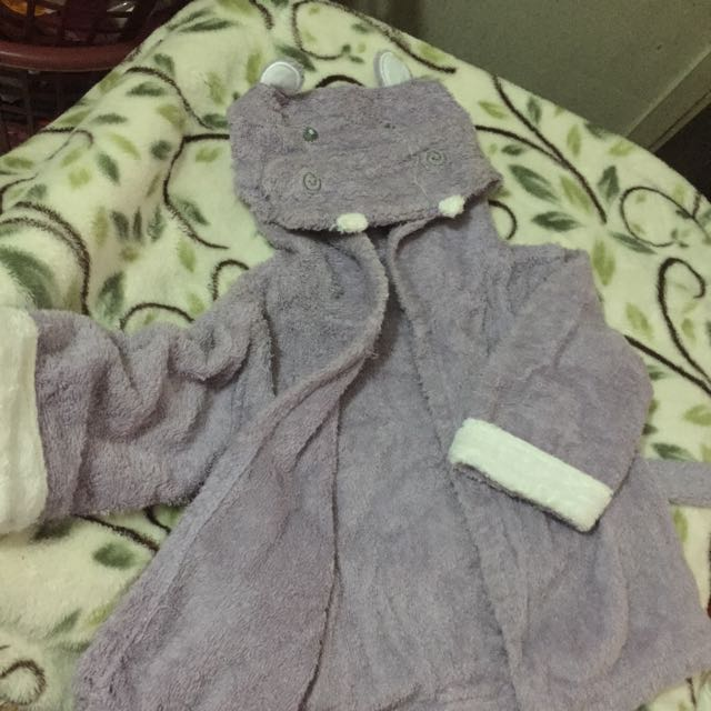 Bathrobe For Babies Hippopotamus Character