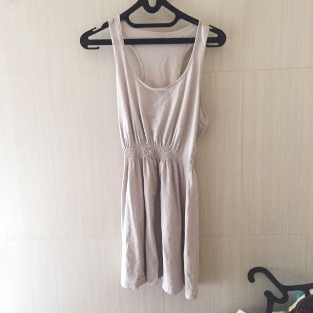 Beige Rubber Dress