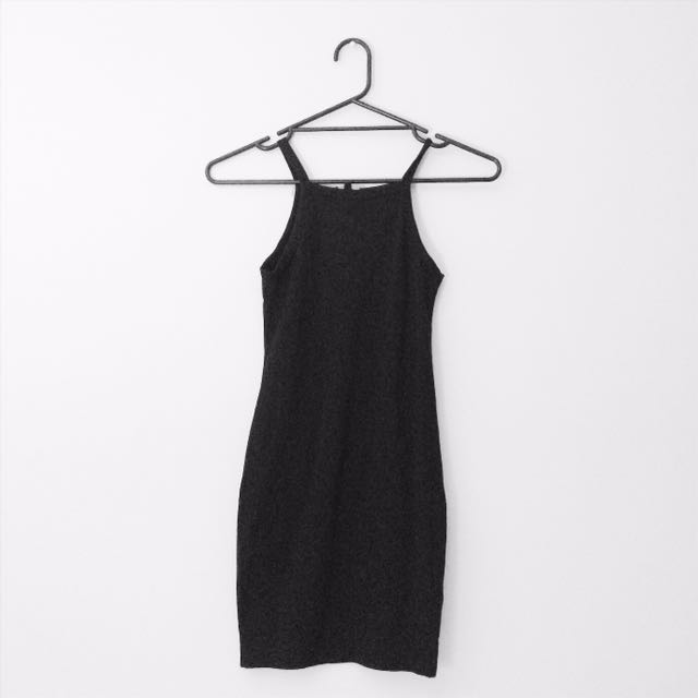 Black Halter Bodycon Dress