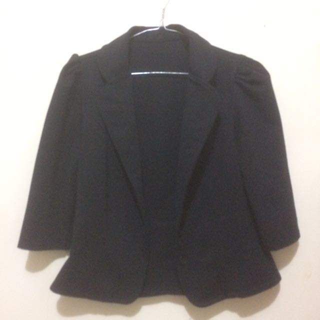 blazer / outer hitam REPRICE