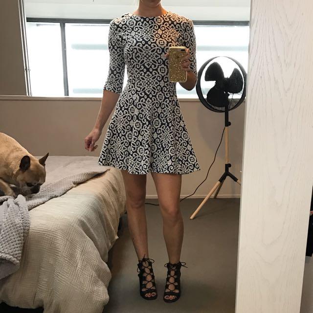 Blue & White Party Dress