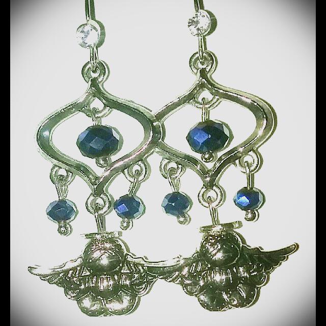 Blue Angel Dangle Earring's