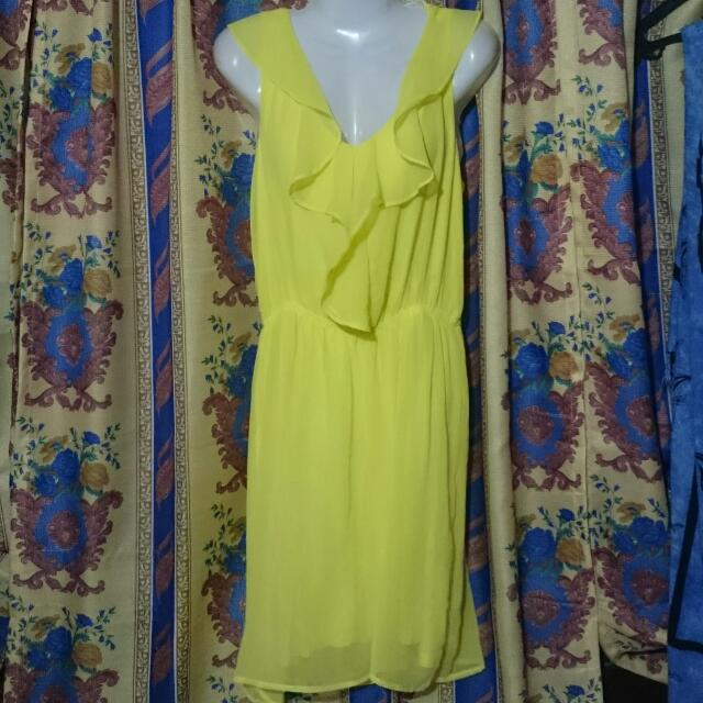 Bnew H&m Yellow Dress