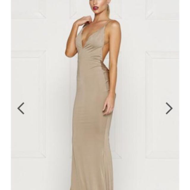 BNWT Alamour The Label Penelope Formal Ball Gown Dress Bronze Size M
