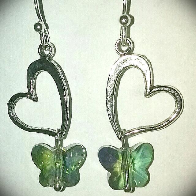 Butterfly Heart Earring's