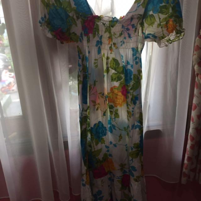 Casual Floral Dress / Gaun Santai Bunga