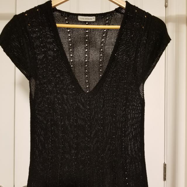 CLOCKHOUSE Perfect Little Black Dress Size L