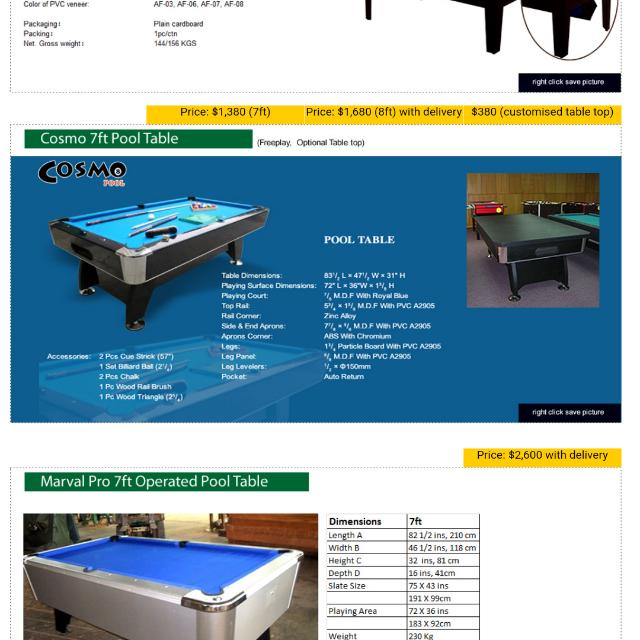 Cosmo Ft Pool Table ONLY THE DINING TOP Toys Games Others On - Pool table top only