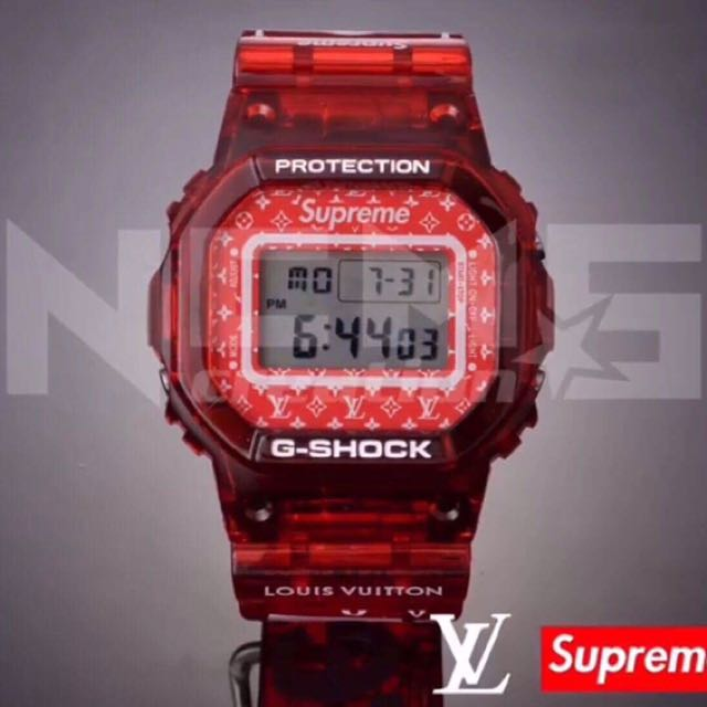 Custom LV Supreme DW5600 G-Shock, Men's Fashion, Watches On Carousell