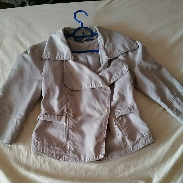 Cute Light Grey Coat