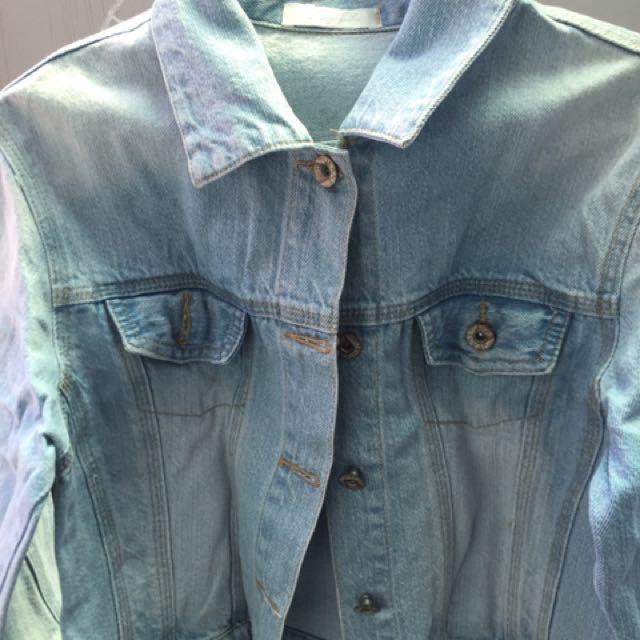 Denim Jacket Jaket Jeans Crop