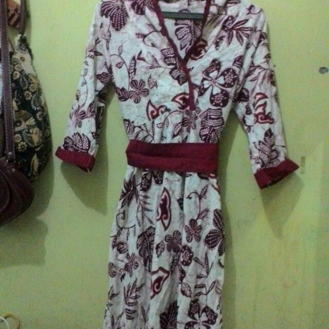 Dress Kimono Batik Selutut