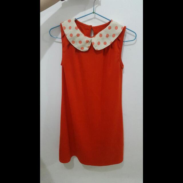 Dress Orange Polka