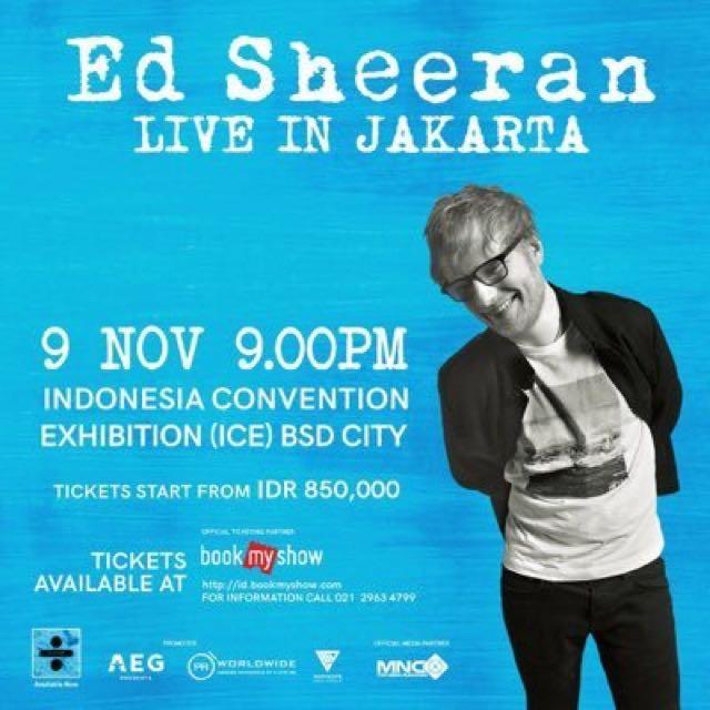 ED SHEERAN FESTIVAL A JAKARTA TICKETS