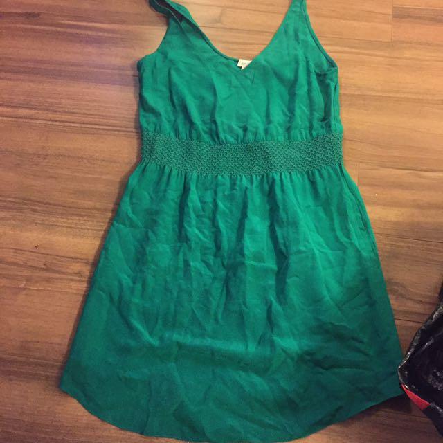 Emerald Green Aritzia Dress