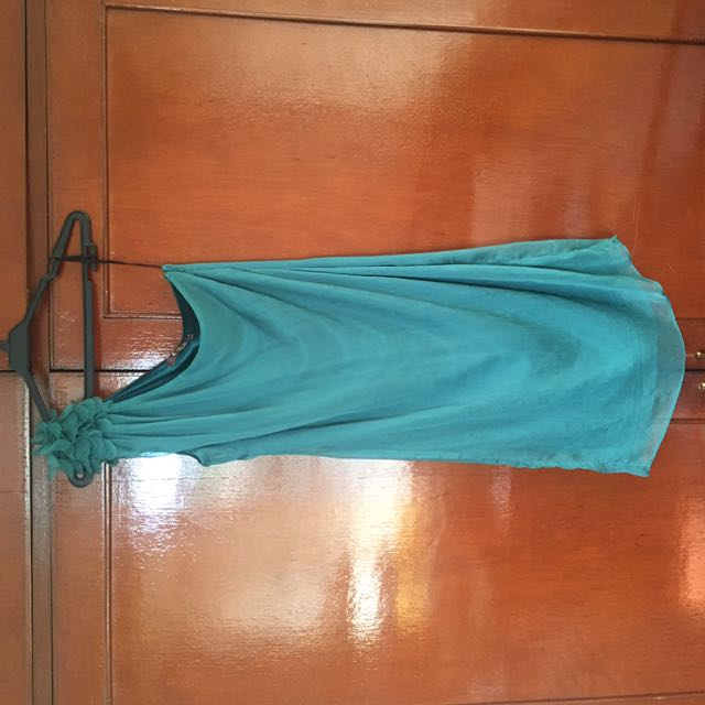 Emerald Green Asymmetrical Dress