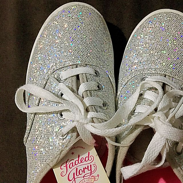 Imported Silver Glitter Sneakers