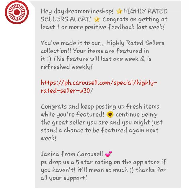Featured For The 8th Time. Thank You Carousell ♡