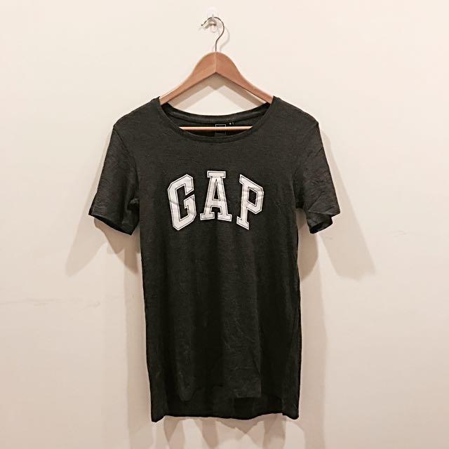 灰色長版gapT恤