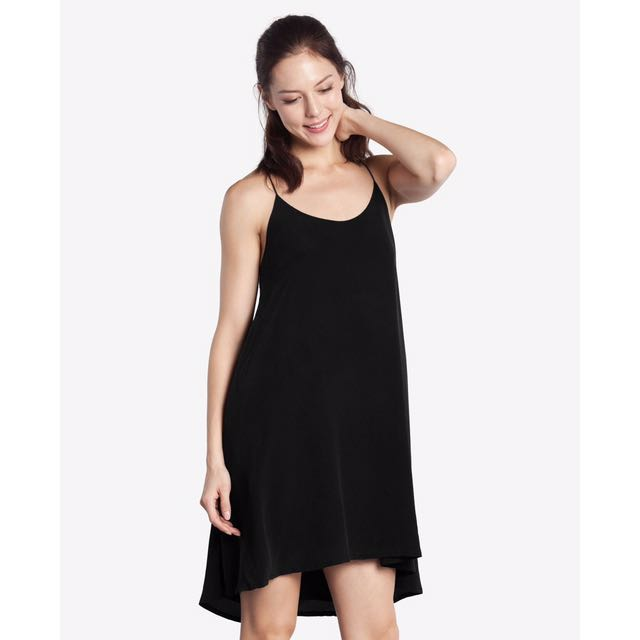a60d5d8f37f Grana Silk Racerback Trapèze Dress