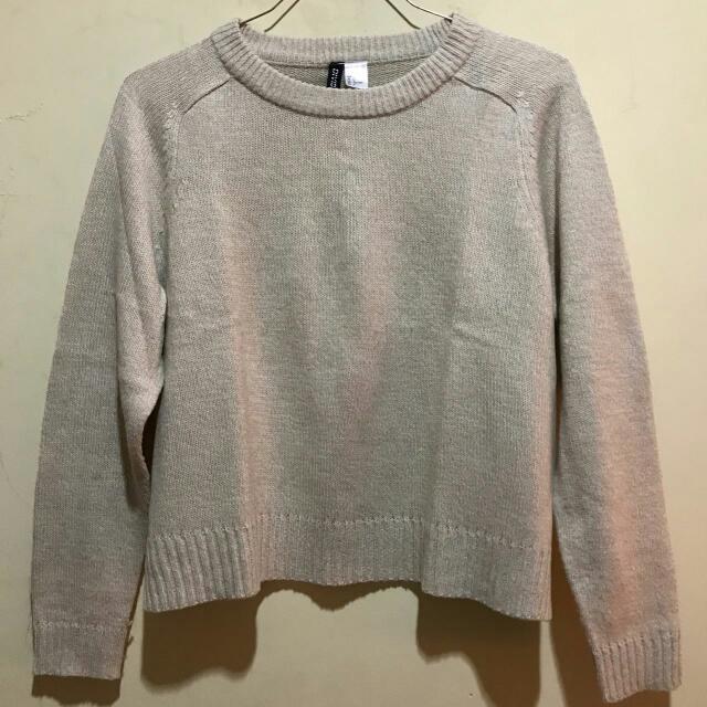 H&M Nude Sweater