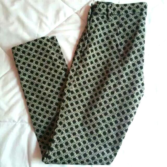 H&M Printed Slacks/Pants/Trousers
