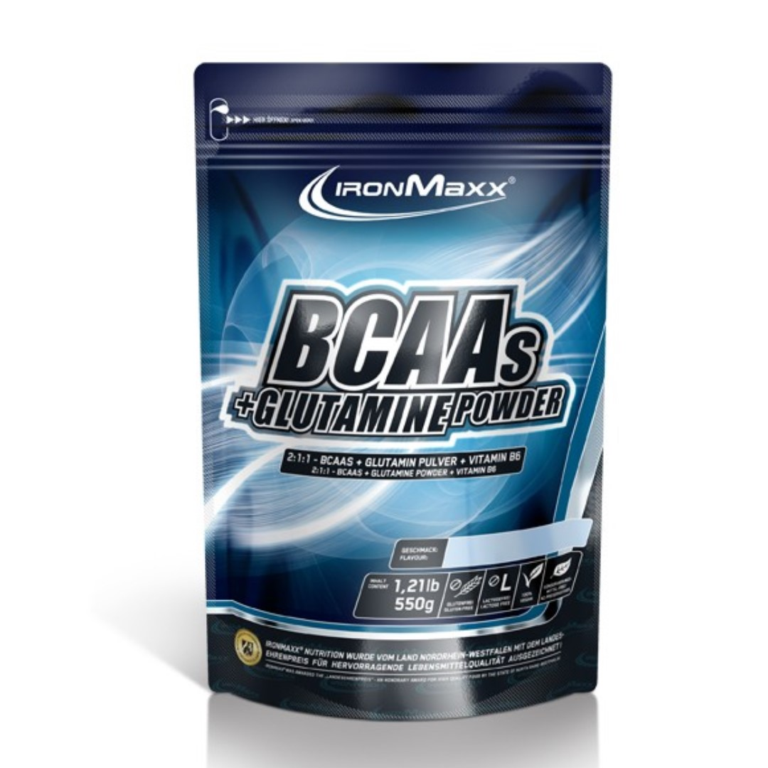 IRONMAXX BCAAs + Glutamin Powder ( 550g Bag)