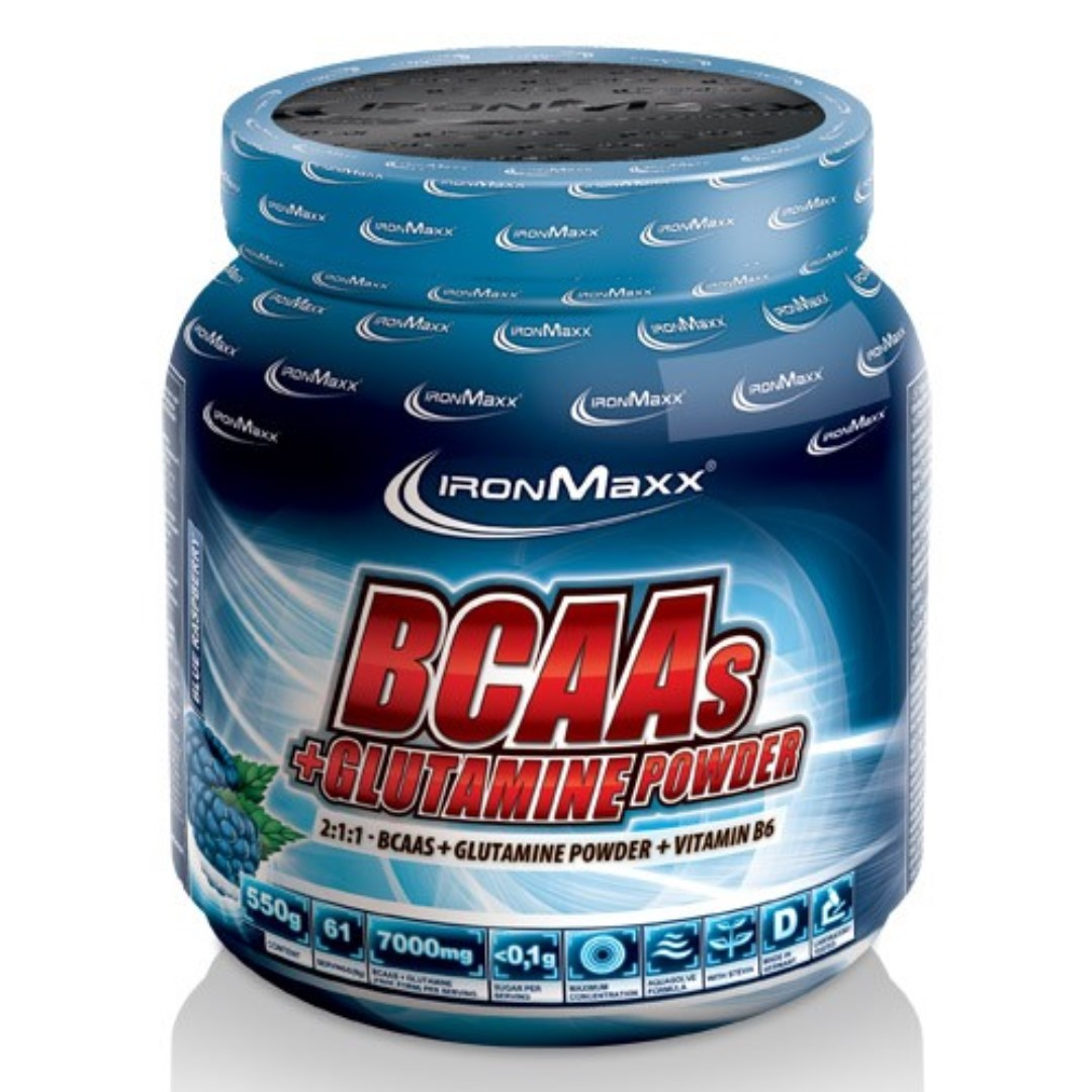 IRONMAXX BCAAs + Glutamin Powder (550g Bottle)