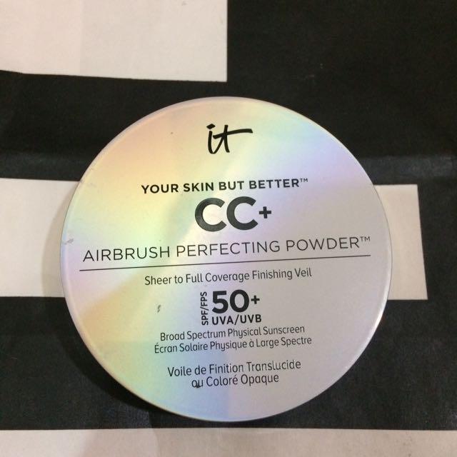 IT COSMETICS CC+ AIRBRUSH PERFECTING POWDER SPF 50 PHYSICAL SUNSCREEN BROAD SPECTRUM