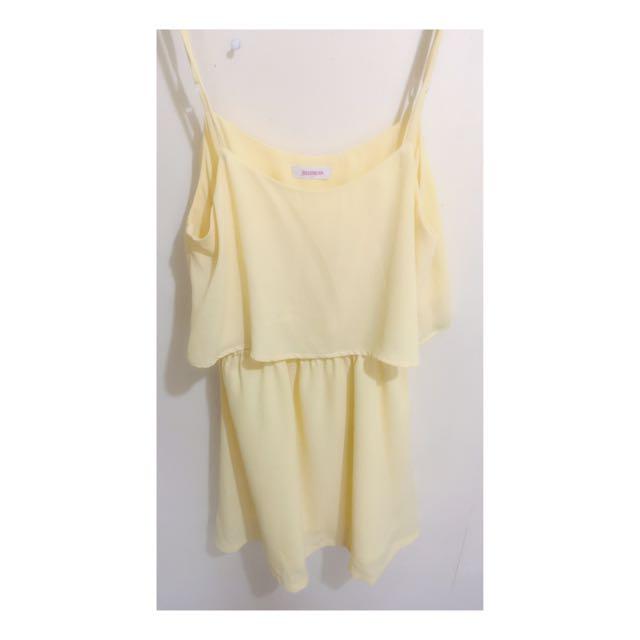 Jellybean Cute Yellow Dress