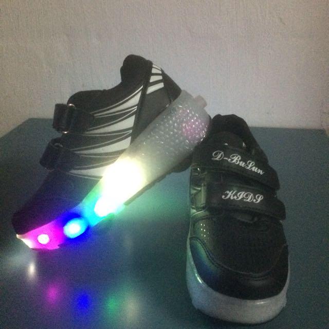 Kids LED Dual Wheel Shoe