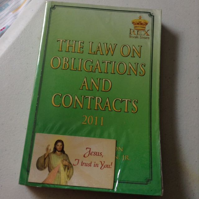 Law On Obligations And Contracts By De Leon