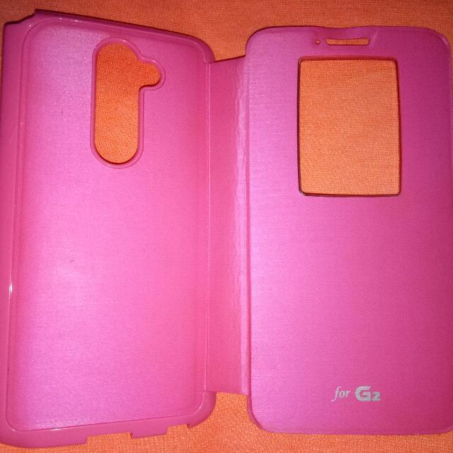 LG G2 flip cover
