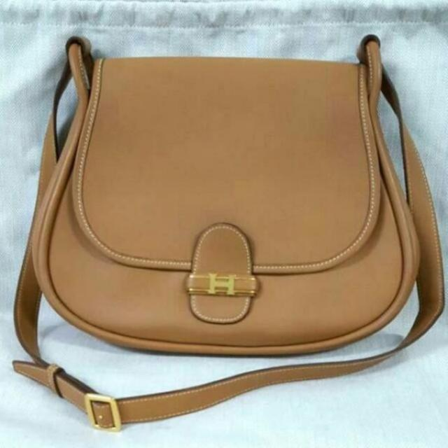 73c745afc85a LOW PRICE! Rare  Hermes Vintage Sac Cleo Shoulder Sling  Crossbody ...