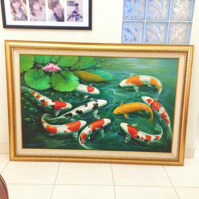 Lukisan Ikan Koi