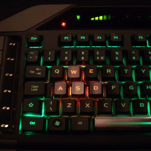 2b7ebaf6c49 Madcatz Cyborg V7 Professional Gaming Keyboard, Electronics, Computers on  Carousell