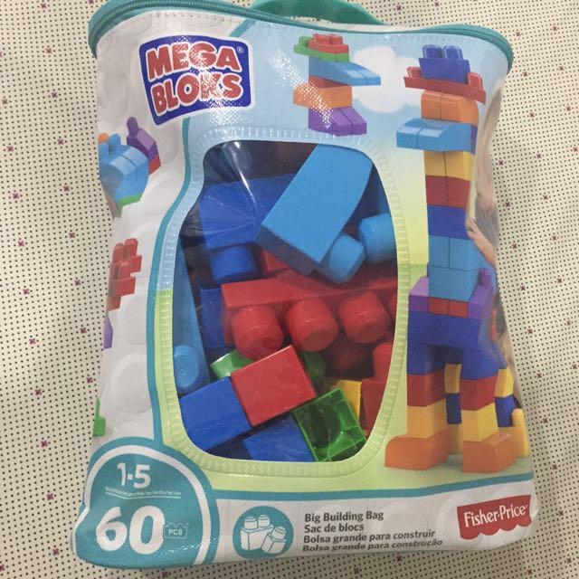 Mega Bloks Big Building Bag 60pcs (sealed See 2nd Pic)