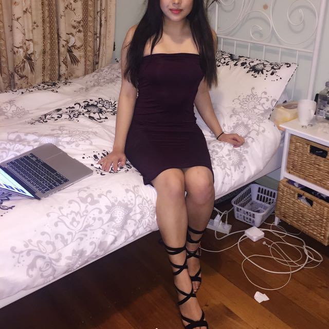 Midi Burgundy Dress