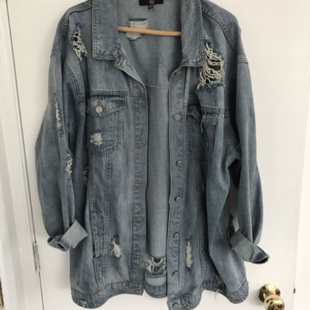 Missguided Distressed Denim Jacket