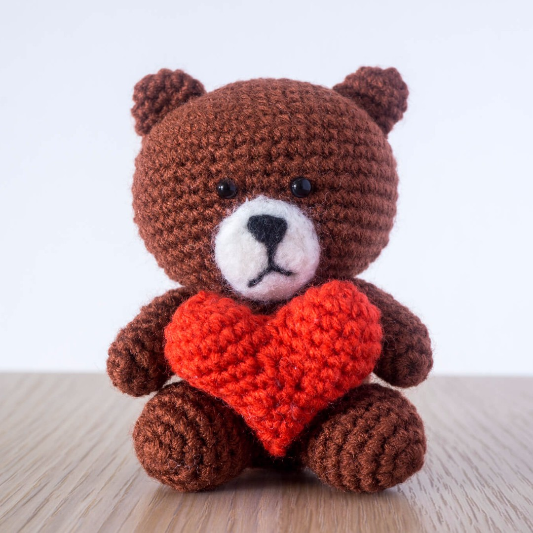 Mr Brown from Line Amigurumi